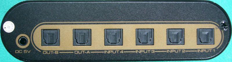 デジタル音声 トスリンク/SPDIF 4対2 マトリクススイッチ