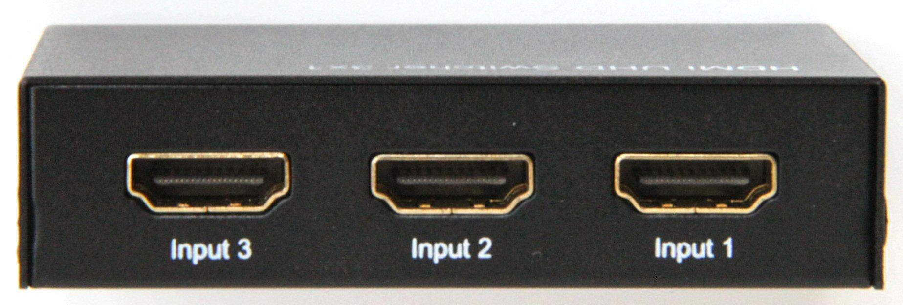 HDMI切替器 4K60Hz対応 3入力1出力