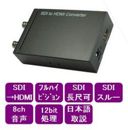 画像1: SDI-HDMI変換器 1系統用、スルー出力付