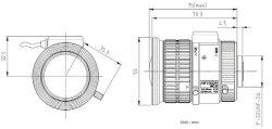 """画像5: CSマウントレンズ 3.8-16mm  1/1.8""""サイズ  8メガピクセル対応の高精度加工 HikVision製"""