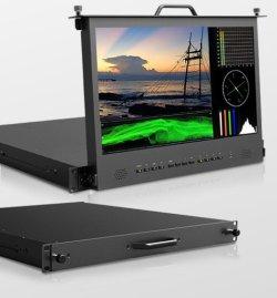 """画像1: 17.3""""IPS ハイビジョンラックマウントモニター HDMI,SDI,DVI,タリー入力"""
